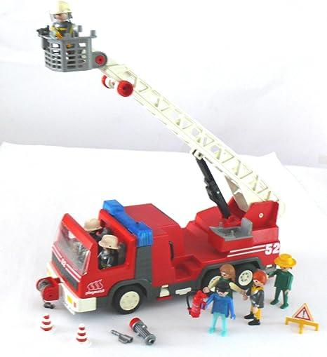 PLAYMOBIL® – Bomberos Escalera carro – 3879-P – 7 figuras muchos accesorios: Amazon.es: Bebé