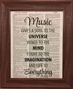 Ready Prints Music Quote Dictionary Book Page Artwork Print Picture Poster Home Office Bedroom Nursery Kitchen Wall Decor - unframed