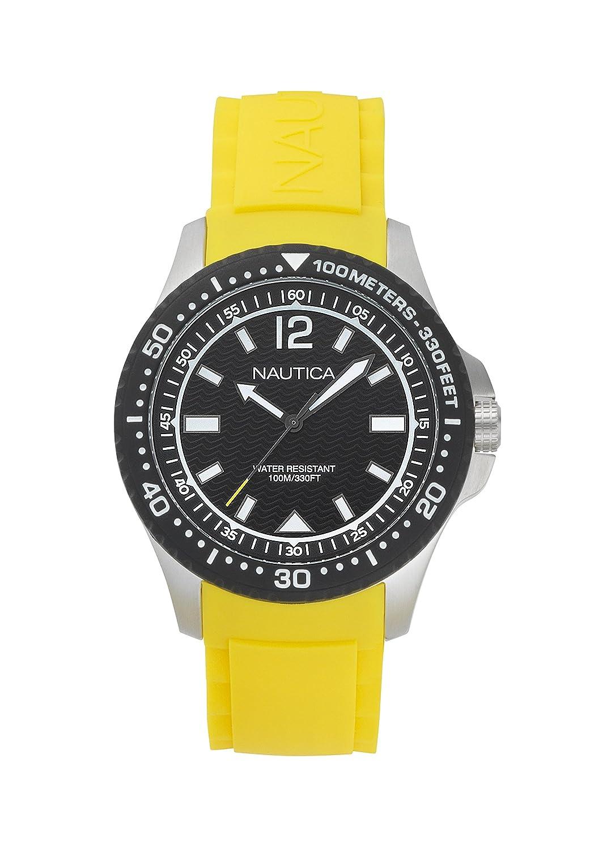 Nautica Reloj Analógico para Hombre de Cuarzo con Correa en Silicona NAPMAU005