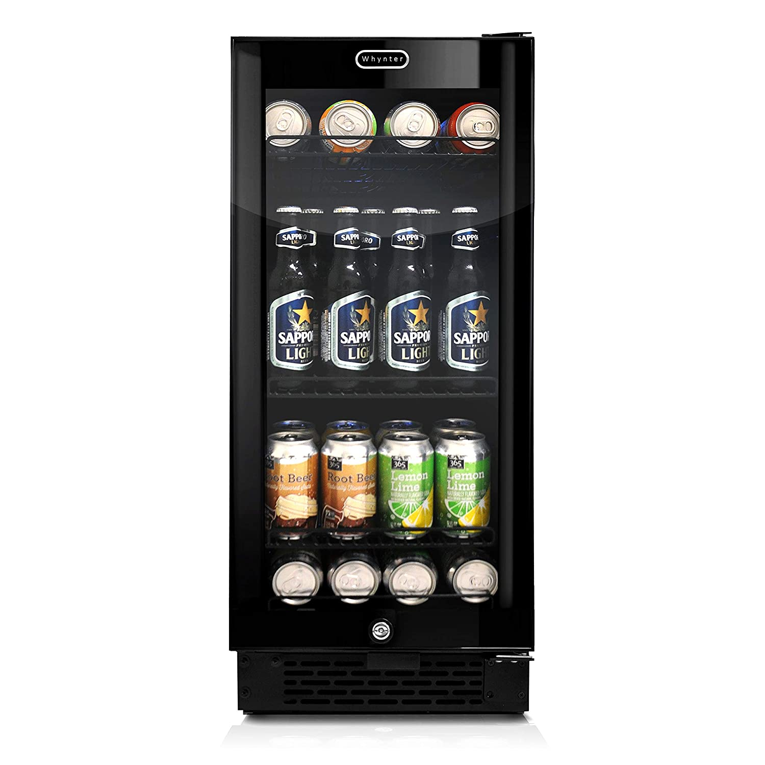 Whynter BBR-801BG Built-in Black Glass 80-can capacity 3.4 cu ft Beverage Refrigerators, One Size