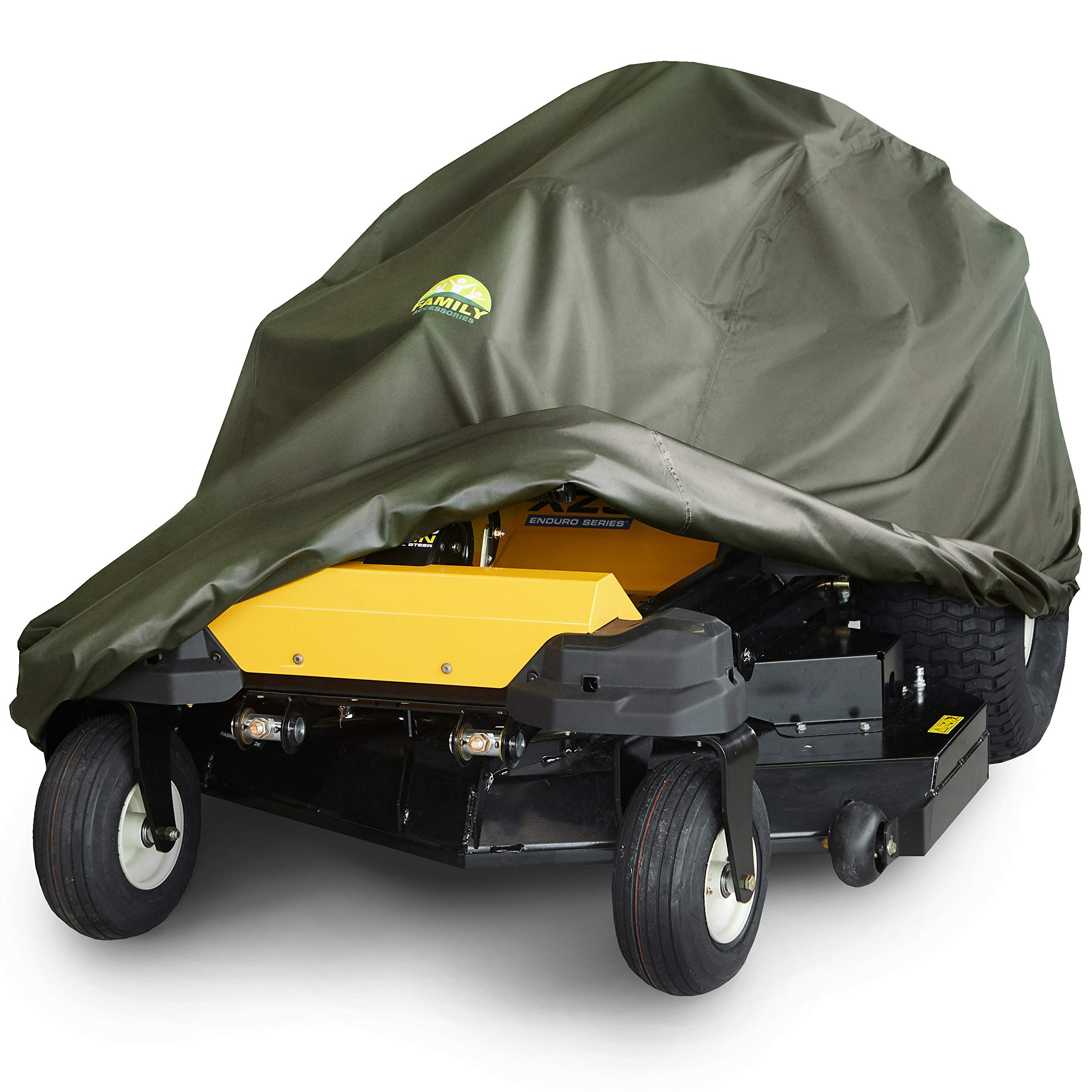 Family Accessories Waterproof Lawn Mower Cover, Heavy Duty, Durable, UV and Water Resistant Cover for Your Riding Garden Tractor (Zero Turn L79 xW46 xH55)