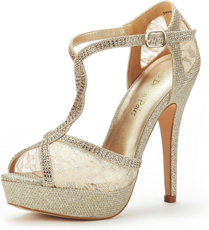 DREAM PAIRS Women's Heeled Sandals Pump