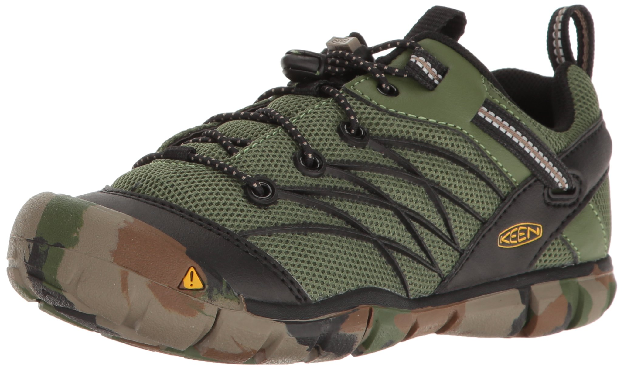 KEEN Kids' Chandler CNX-C Sneaker, Crushed Bronze/Green, 2 M US Little Kid by KEEN