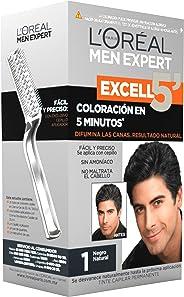 Tinte para cabello Permanente para hombre Excell 5 L'Oréal Paris 1 Negro Natural