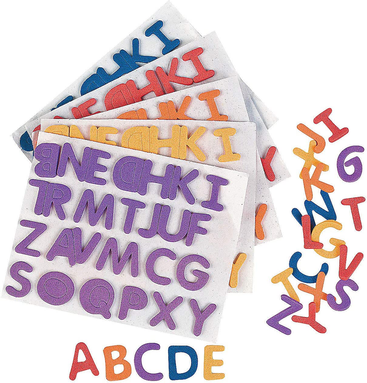 Fun Express 1040 Pieces Craft Supplies 1//2 Regular Adhesive Foam Letters Foam Shapes
