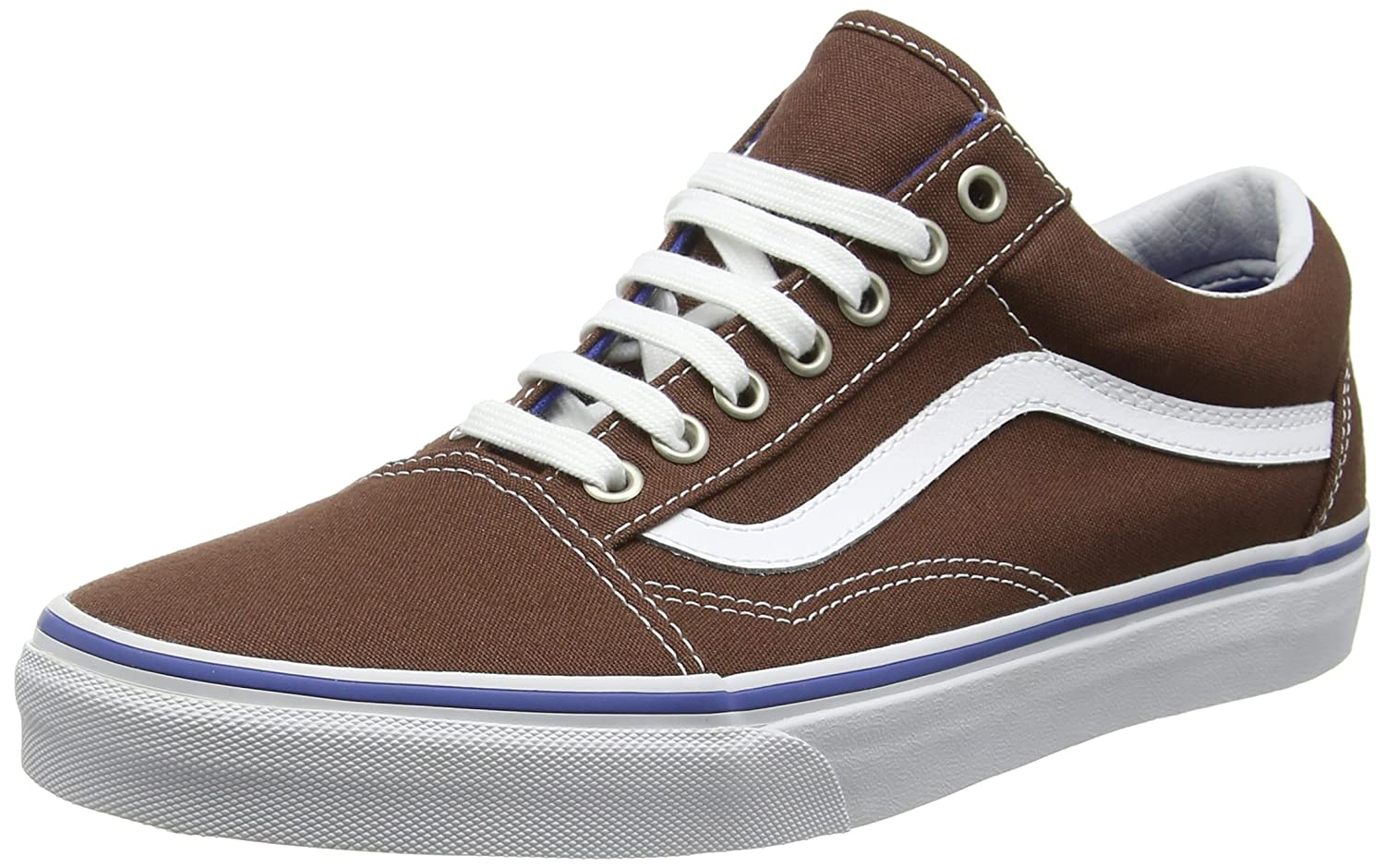 Vans Unisex Old Skool Classic Skate Shoes B019JBPQEA 11 M US Women / 9.5 M US Men|Chestnut True White