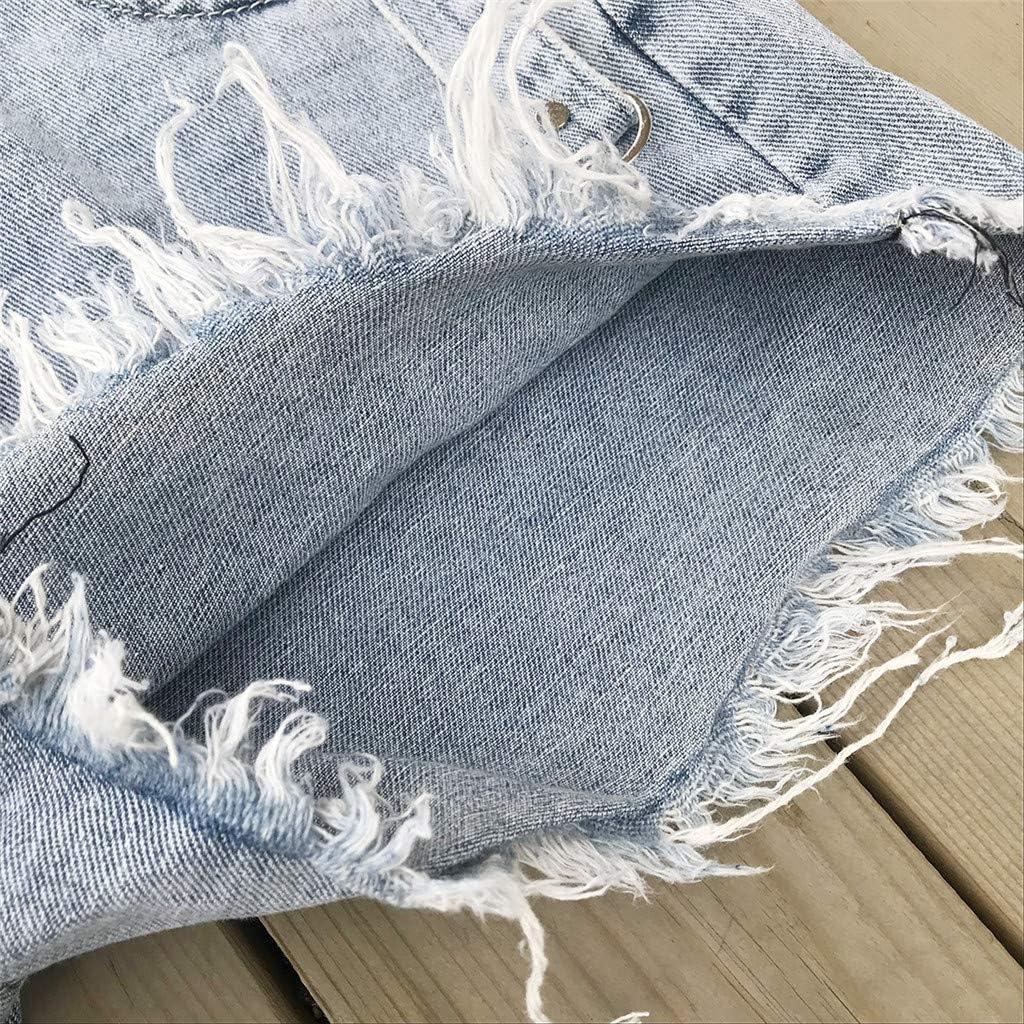 Womens Juniors Summer Denim Shorts High Waisted Elastic Fray Hem Body Enhancing Distressed Jeans Pants Plus Size
