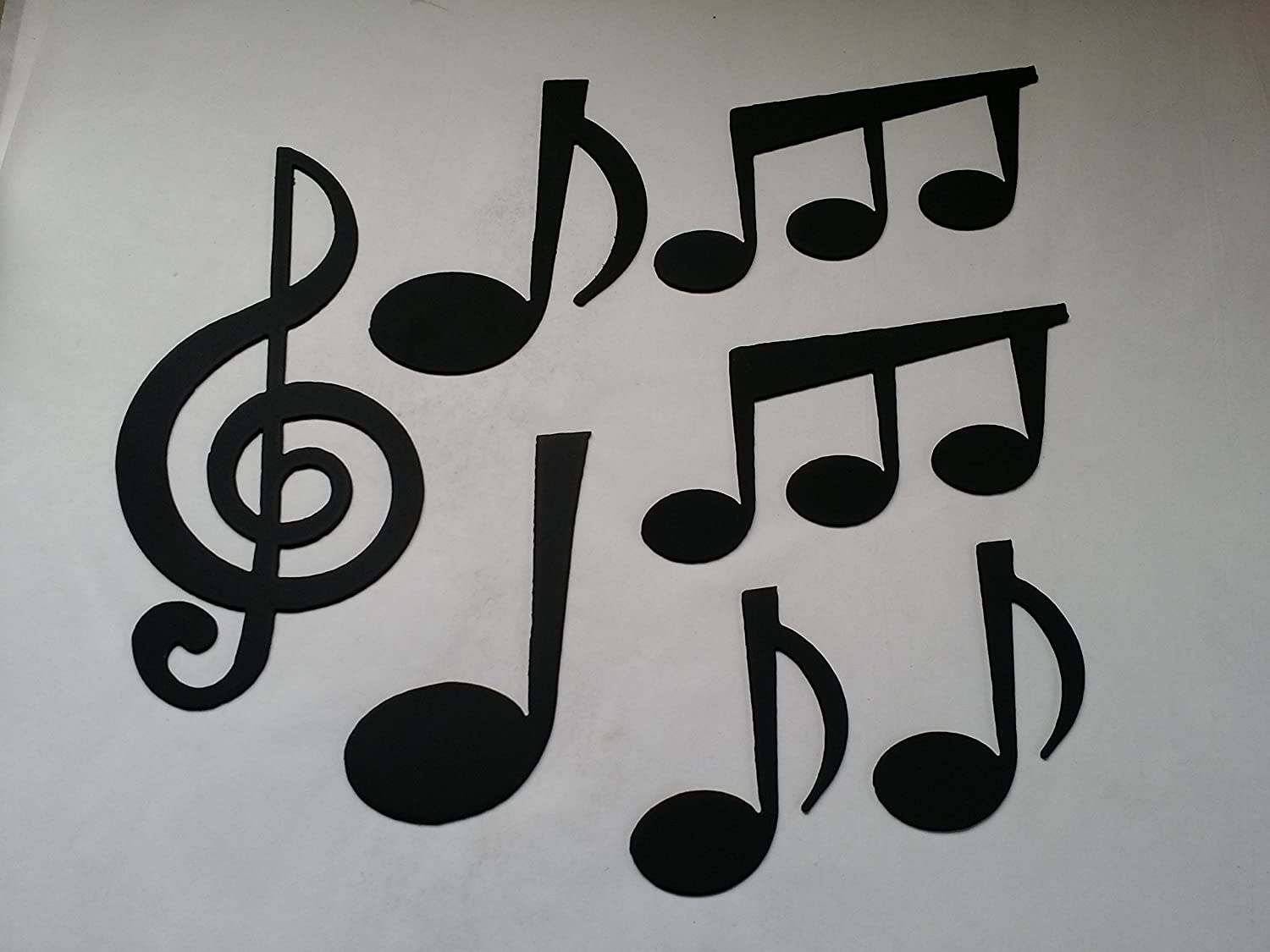 Amazon musical notes set of 7 metal wall art music decor amazon musical notes set of 7 metal wall art music decor home kitchen amipublicfo Image collections