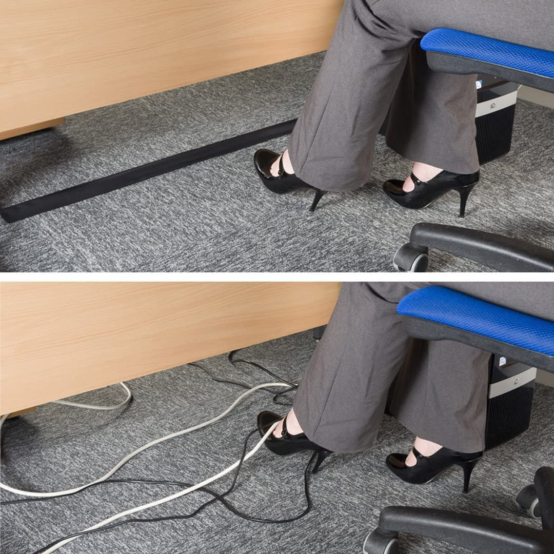 Amazon Com D Line Cable Grip Strip Floor Cable Cover For Commercial Office Carpet Only Hold Cords In Place Under Desks And Around The Perimeter Of Rooms 3 Width X 10