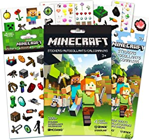 Minecraft Stickers Party Favors Ultimate Set -- Bundle Includes Over 400 Minecraft Stickers with Bonus Animal Stickers (Minecraft Party Supplies)