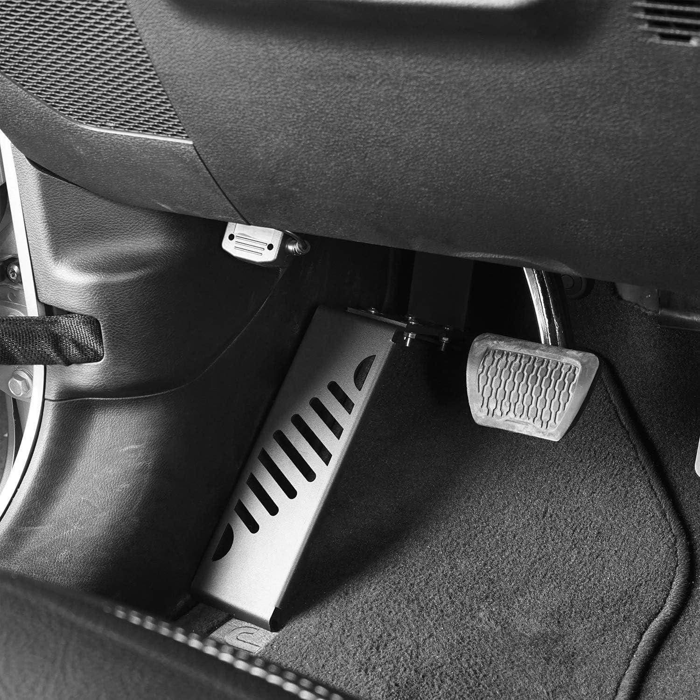 for Jeep Wrangler JL 2018 2019 2020 Sahara Rubicon Sport Sports V8 GOD Left Side Dead Pedal Foot Rest Pad Kick Panel Driver Side
