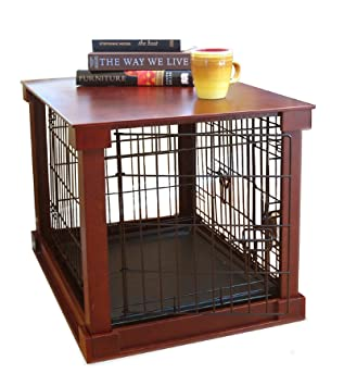 furniture pet crate dog kennel wood large size cage wooden end side table - Dog Crate Side Tables