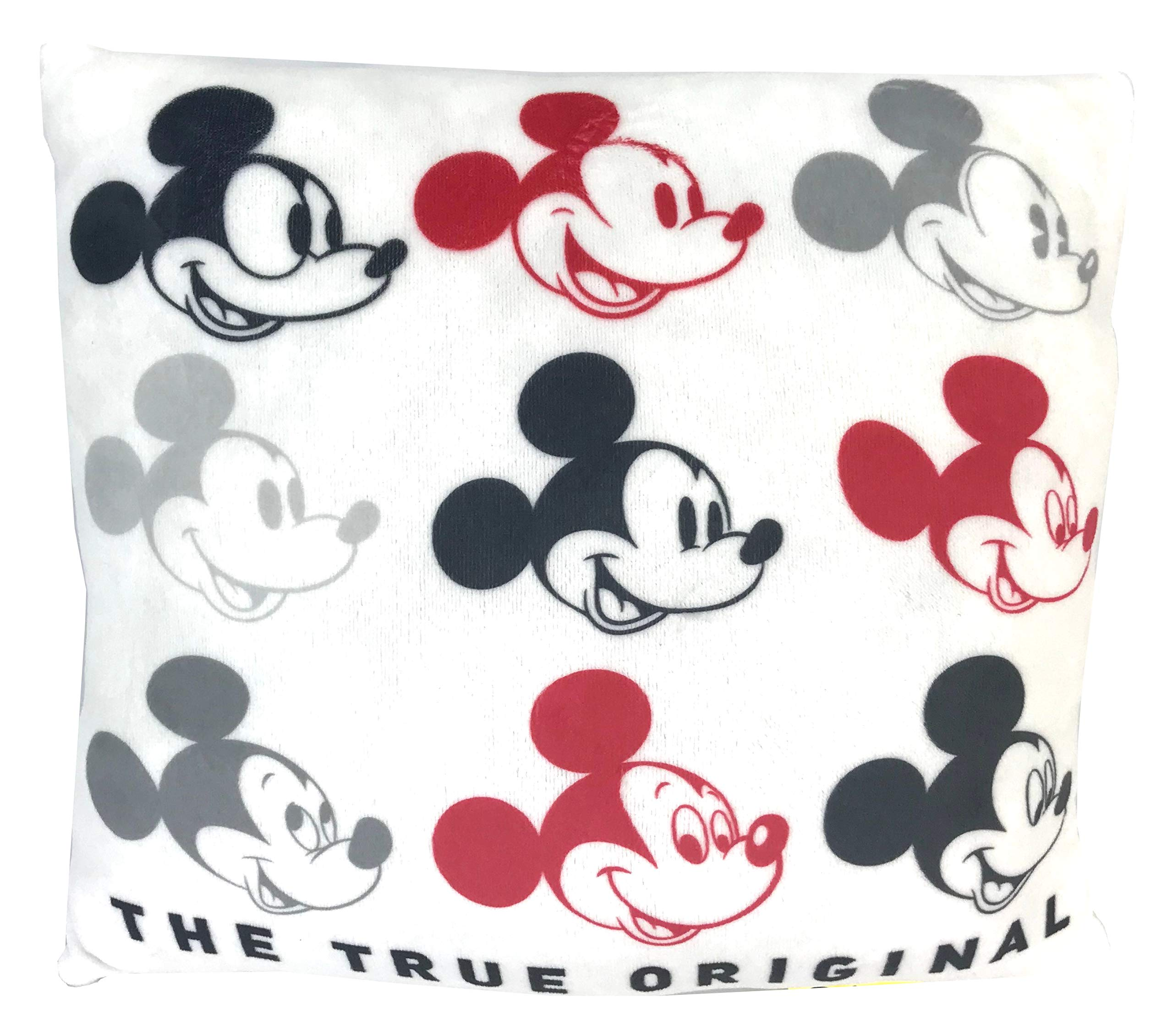 Disney Mickey Mouse The True Original Super Soft Plush Throw Pillow 12x12 by Disney
