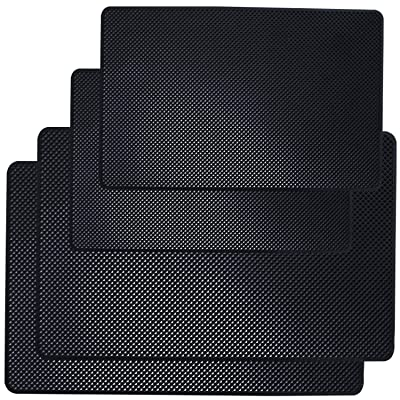 """DaKuan Car Dashboard Anti-Slip Mat, 4 Packs 10.5"""" x 5.7"""" and 8"""" x 5.1"""" Sticky Non-Slip Dashboard Gel Latex Pad for Cell Phone, Sunglasses, Keys, Coins: Automotive"""