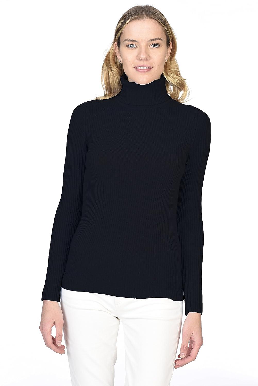 Amazon.com: Lark & Ro Women's 100% Cashmere Slim-Fit Turtleneck ...