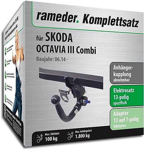 Remolque extraíble/rameder Completo Kit de + 13POL eléctrica para Skoda Octavia Combi (124945â