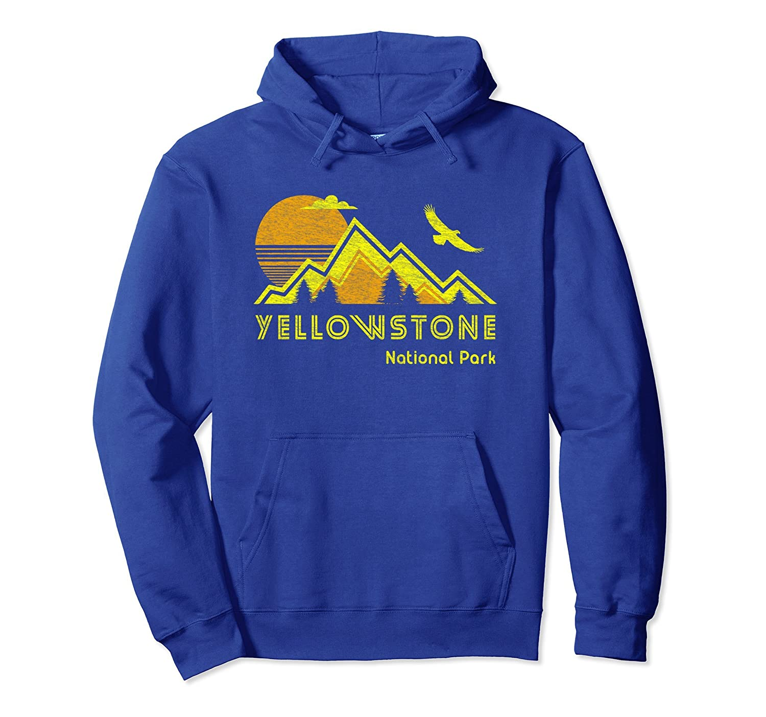 Yellowstone National Park Hoodie Retro Pullover Sweatshirt-ah my shirt one gift