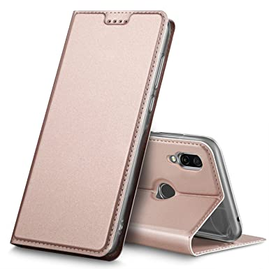 finest selection 5bc00 11074 Geemai Honor Play Case, Honor Play Cover [Card Holder] [Magnetic Closure]  Premium Leather Flip Wallet Case Cover for Honor Play Smartphone, Rosegold