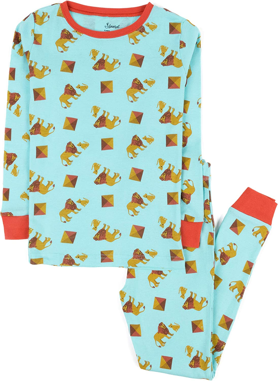 Size 12 Months-14 Years Leveret Kids Pajamas Boys Girls 2 Piece pjs Set Animal Prints 100/% Cotton
