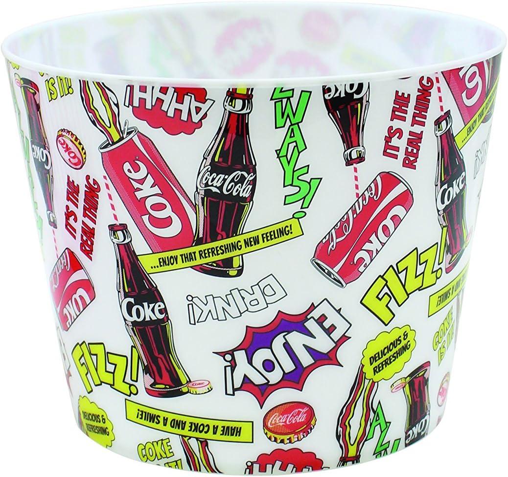 """Tablecraft CC401 Coca-Cola Popcorn/Snack Bucket""""Pop!"""", Red"""