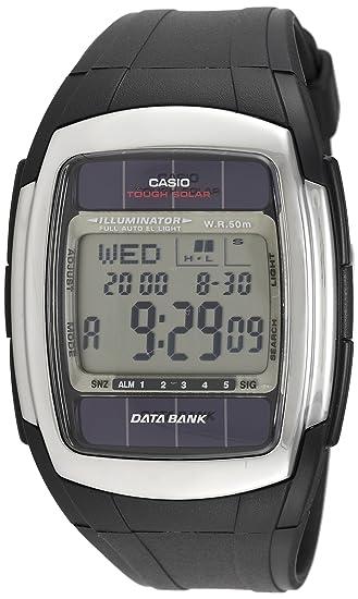 Casio-DB e 30-1AVDF SOLAR-TOUGH-World-Time-Reloj SOLAR recarga-hombre cuarzo, digital, correa de resina.: Amazon.es: Relojes