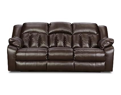 Brilliant Amazon Com Simmons Upholstery Sebring Bonded Leather Double Frankydiablos Diy Chair Ideas Frankydiabloscom