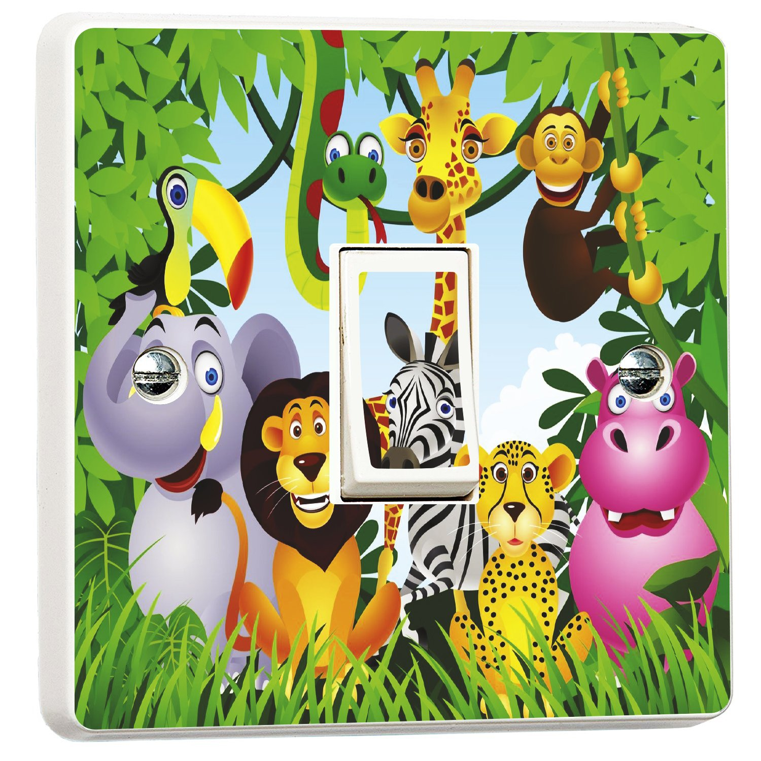 Jungle Animals Light Switch Sticker for Kids Bedrooms Wall Art Desire®