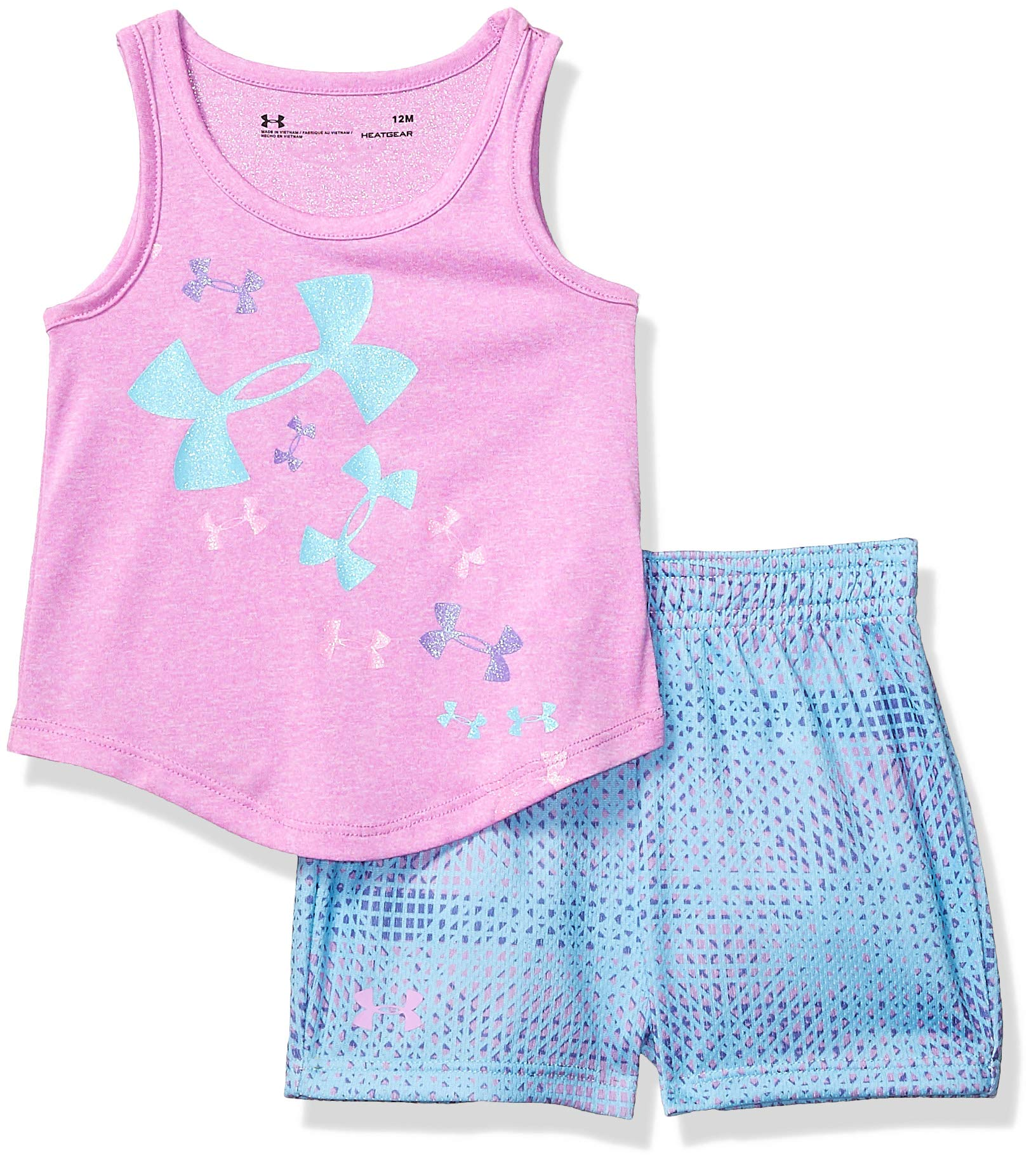 Under Armour Baby Girls UA Tank and Short Set, Verve Violet-S19, 18M by Under Armour