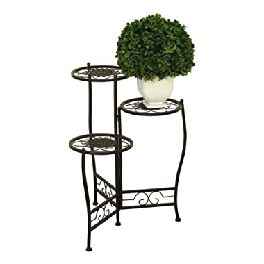 Deco 79 Metal Plant Stand, 24 by 18-Inch