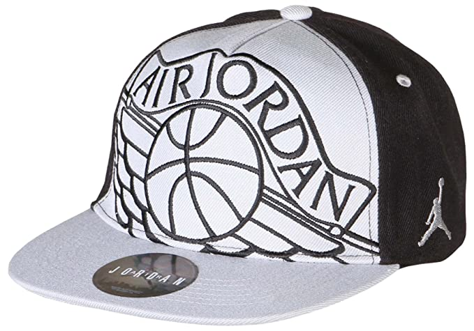 a0d6488c4e7 Amazon.com: Youth Air Jordan Athletic Snapback Hat (8/20, Black/Grey ...