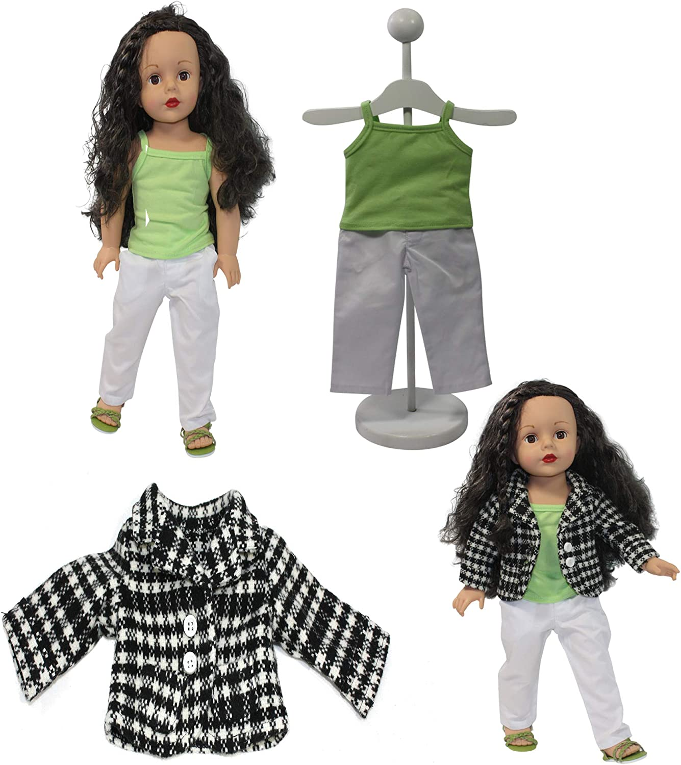 Complete Sets |18 Inch Doll Clothes Dress and Accessories for 18 Dolls Life Doll Clothes Outfits American 18 Inch Girl Doll Generation 22pcs Doll Clothes Bundle
