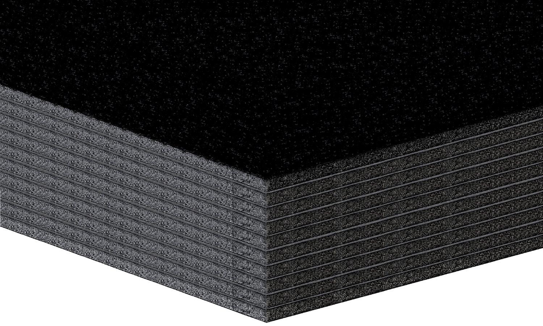 10pezzi di schiuma leggera Platten, leggero tessuto piastre–5mm–Nero–formato: A3(29,7x 42cm) Altera CE406B