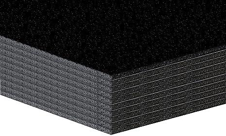 10 pieza ligeramente placas de espuma, plástico placas – 5 mm – Negro – Formato