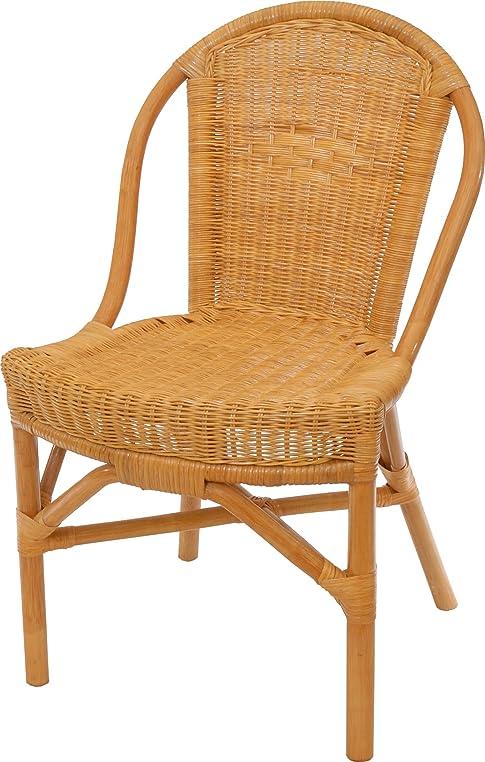 Rattan-Stuhl Klassik in der Farbe Honig, Küchenstuhl Esszimmer ...