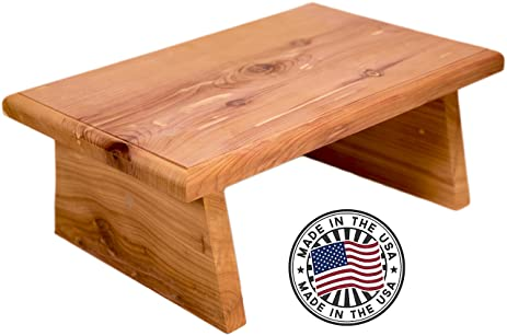 New Strong Wooden Small Wood Step Stool Made in USA! Made in America Hand Crafted  sc 1 st  Amazon.com : bed stools adults - islam-shia.org