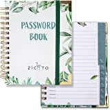 Simplified Greenery Password Book with Alphabetical Tabs - Pocket Sized Internet Password Keeper and Organizer w/Quick Search