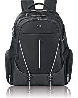 "Solo 17.3"" Laptop Backpack, Hardshell Side Pockets, Black"