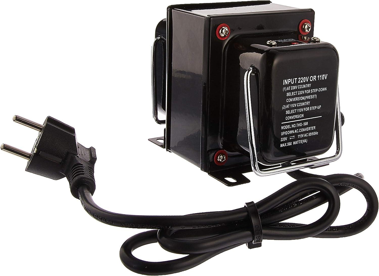 Simran 200 Watt Step Down Transformer Voltage Converter for 220 Volt to 110 Volt Conversion A /& J Distributors THG-200