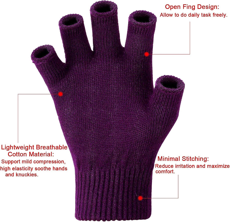 Tacobear Guantes sin Dedo Guantes de Medio Dedo de Mitad Invierno Guantes de Lana El/ásticos para Mujeres