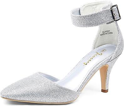 JEOSSY Women's Pumps Low Heel Dress