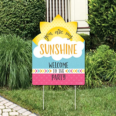 Amazoncom You Are My Sunshine Party Decorations Birthday Party