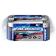 ACDelco D Batteries, Alkaline Battery, 8 Count