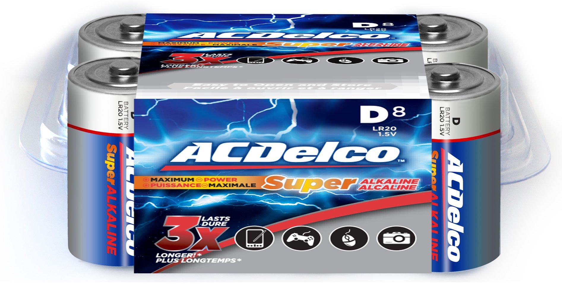 Amazon Com Acdelco Aaa Batteries Super Alkaline Aaa