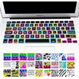 """Allytech Keyboard Cover Silicone Skin for MacBook Pro 13"""" 15"""" 17"""" (with or w/out Retina Display) iMac and MacBook Air 13"""" (Big Font colorful)"""