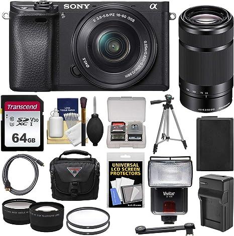 Sony Alpha A6300 4 K Wi-Fi Cámara Digital & 16 – 50 mm con ...
