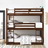 Aprodz Mango Wood Ipsotu Bunk Bed for Bedroom | Brown Finish