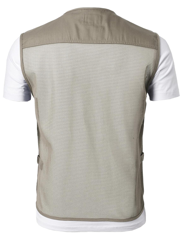 H2H Mens Premium Casual Active Cargo Camping Vests Multi-Pocket Outdoor