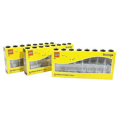 LEGO Minifigure Display Case (Large 3-Pack Black): Home & Kitchen