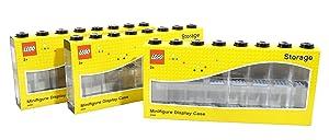 LEGO Minifigure Display Case (Large 3-Pack Black)