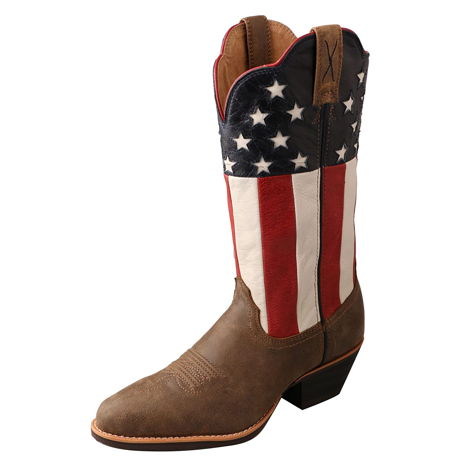 Twisted X Women's American Flag Western Cowgirl Boot Round Toe - Wwt0035 B0187Y3OAS 6.5|Bomber